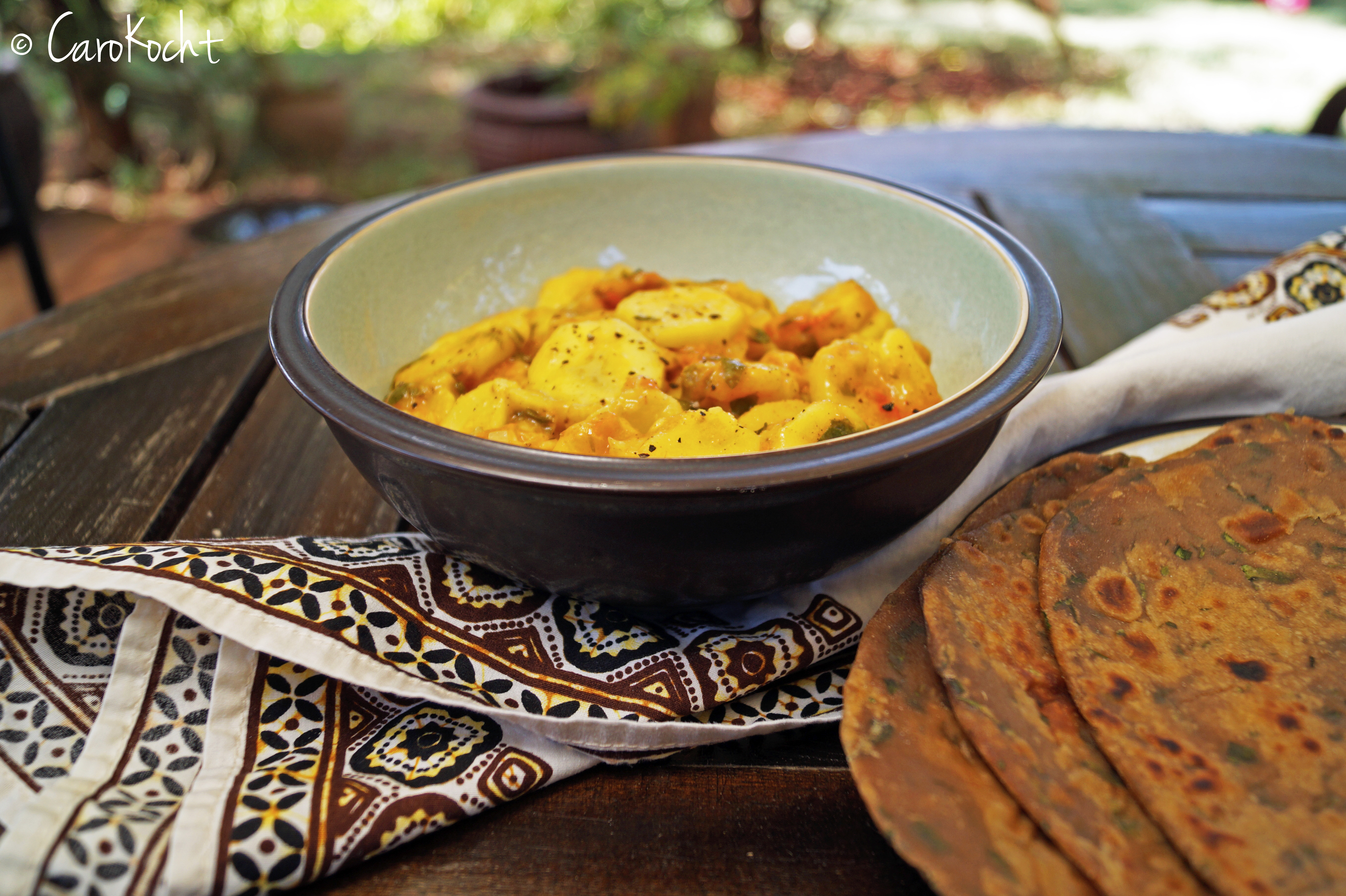 Kenianisches Matoke Stew und Chapati
