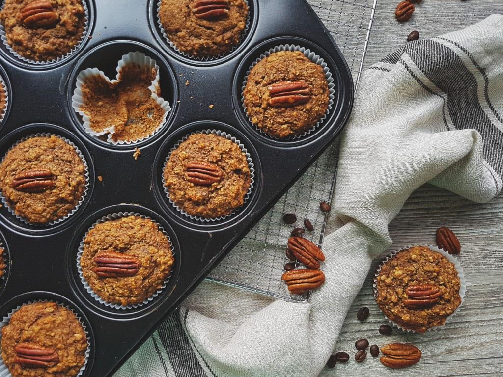 Espresso pecan muffins